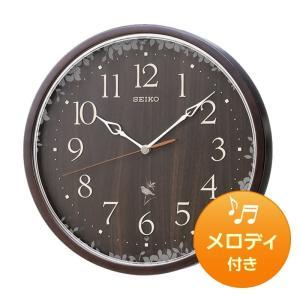 10倍ポイント/SEIKO セイコー 報時付き 木枠 電波掛け時計 RX215B  濃茶 syohbido-store