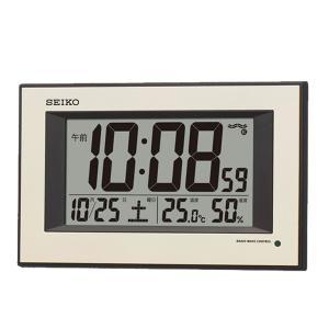 10倍ポイント/SEIKO(セイコー)温度・湿度表示付 夜光 デジタル電波掛け時計 SQ438G|syohbido-store