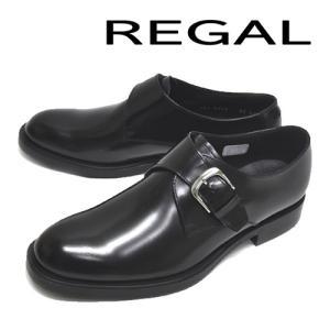 リーガル 22LR BD メンズ モンクストラップ ビジネスシューズ ブラック|syokandake