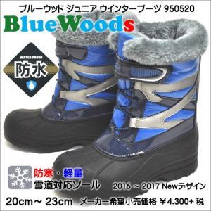 アシックス商事 ブルーウッド ジュニア ウインターブーツ 950520 ブルー|syokandake