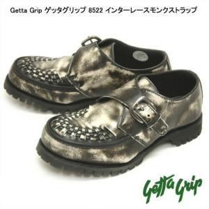 ゲッタグリップ 8522 インターレースモンクストラップ 男女兼用 ブラックアドバンレザー|syokandake