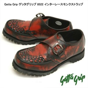 ゲッタグリップ 8522 インターレースモンクストラップ 男女兼用 バーガンディアドバンレザー|syokandake