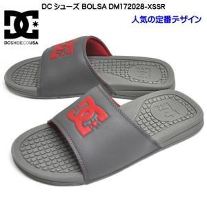 DC SHOES シューズ メンズ サンダル BOLSA DM172028-XSSR ADYL100026 グレー/レッド syokandake