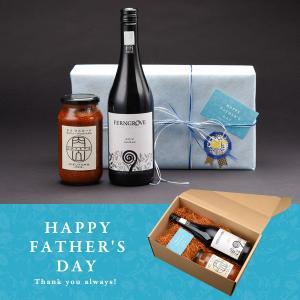 【父の日セットB】名店『肉山』の「肉に合う特製チリマスタード」&「特選ワイン」セット マスタード ワイン 肉に合う ギフト ラッピング syokuraku-marche