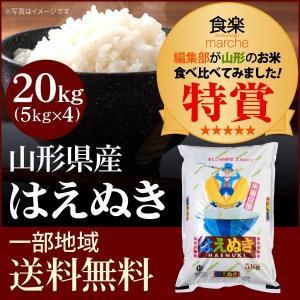 米 お米 20kg(5kg×4袋) はえぬき 山形県産 国内産 白米|syokuraku-marche