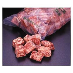 冷凍食品 業務用 Nロースダイス IQF サイコロステーキ 1kg 脂肪除去 筋除去 ステーキ ビーフ 牛肉|syokusai-netcom