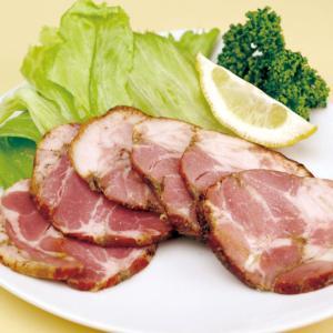 冷凍食品 業務用 国産黒糖ローストポーク  スライス  500g    お弁当 サラダ トッピング オードブル 洋食|syokusai-netcom