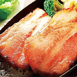 冷凍食品 業務用 ベーコン厚切り  8mm厚  500g    お弁当 焼肉 ポーク ステーキ バーベキュー|syokusai-netcom