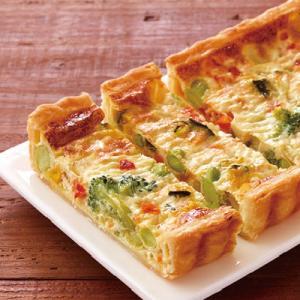 冷凍食品 業務用 7種の野菜のキッシュ 1本300g    お弁当 女性に人気 簡単 電子レンジ キッシュ 洋食|syokusai-netcom