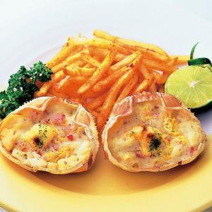 冷凍食品 業務用 ジャンボかに玉グラタン 140g 調理 オーブンで焼くだけ グラタン ドリア 洋食|syokusai-netcom