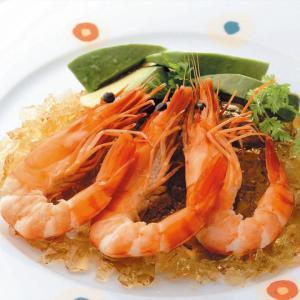 冷凍食品 業務用 割鮮サラダえび 有頭ボイル むき湾曲 25尾    お弁当 サラダ トッピング オードブル えび エビ海老 食材 魚介 シーフード|syokusai-netcom