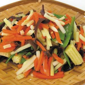 冷凍食品 業務用 中華野菜ミックス 500g 筍 人参 インゲン ヤングコーン マッシュルーム カット野菜 syokusai-netcom