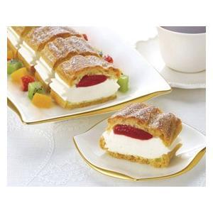 冷凍食品 業務用 フリーカットケーキ シュークリーム イチゴ 335g    お弁当 バイキング パーティー ケーキ 洋菓子 スイーツ デザート|syokusai-netcom