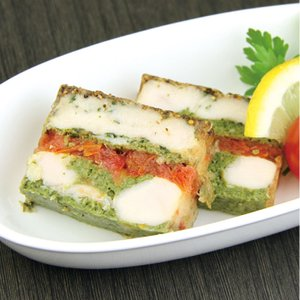 冷凍食品 業務用 チキン トマトテリーヌ 450g    お弁当 前菜 パーティ オードブル 肉 ニク 食材|syokusai-netcom