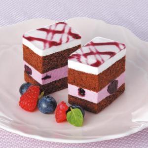 冷凍食品 業務用 フリーカットケーキ ブルーベリー 475g  約70×360×35mm    お弁当 バイキング パーティー 洋菓子 ケーキ|syokusai-netcom