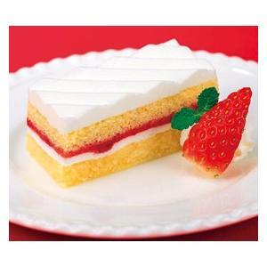 冷凍食品 業務用 フリーカットケーキ いちごショートケーキ355g    お弁当 人気 定番ケーキ バイキング 洋菓子 ケーキ|syokusai-netcom