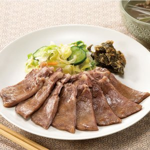 冷凍食品 業務用 北米産牛タン塩中切り  500g    お弁当 味付 スライス済 厚切 牛肉 たん|syokusai-netcom
