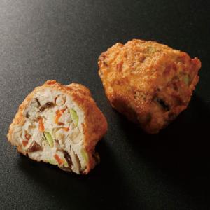 冷凍食品 業務用 七彩ひろうす40 400g  10個      お弁当 がんもどき 飛竜頭 ひりゅうず 和食 惣菜|syokusai-netcom
