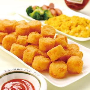 グルメ 冷凍食品 業務用 ビストロポテト ミニ 1kg (約68個入) 13477 弁当 一口サイズ サクサク 洋食 揚げ物 ハッシュドポテト|syokusai-netcom