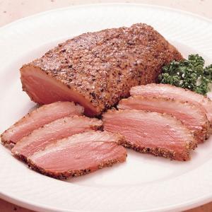 冷凍食品 業務用 合鴨パストラミ 1本約200g    お弁当 オードブル パーティ かも カモ 肉 合鴨|syokusai-netcom