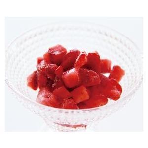 冷凍食品 業務用 冷凍果実ストロベリーダイス 500g 苺 イチゴ ストロベリー トッピング フルー...