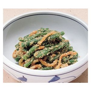 冷凍食品 業務用 インゲンごま和え 1kg    お弁当 一品 野菜 インゲン ごま和え 小鉢 惣菜 和食 syokusai-netcom