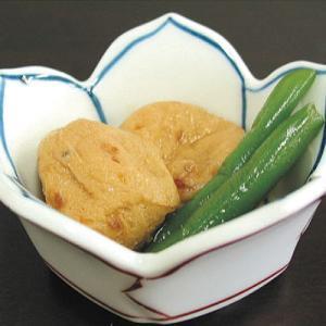 冷凍食品 業務用 ミニがんもとインゲンの煮付け 1kg 一品 惣菜 お通し がんも インゲン 小鉢 惣菜|syokusai-netcom