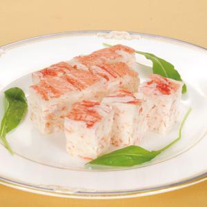 冷凍食品 業務用 ヤマ食)たっぷり蟹テリーヌ 1枚(約350g)    お弁当 朝食 バイキング オードブル テリーヌ かに カニ|syokusai-netcom