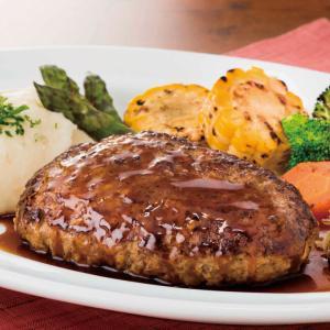 冷凍食品 業務用 日東ベスト)JGザ・ビーフハンバーグ 227g×5個入    お弁当 肉感 ジューシー感 ハンバーグ 肉料理|syokusai-netcom