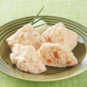 冷凍食品 業務用 かにのふわふわ豆腐 500g(20個入)    お弁当 弁当 カニ 和食 惣菜 一品 とうふ syokusai-netcom
