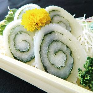 冷凍食品 業務用 真いか鳴門巻  大葉   約80g×4本入  弁当 冷凍食品 いか 烏賊 イカ 刺身 syokusai-netcom