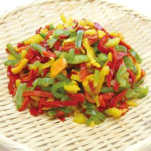 冷凍食品 業務用 ピーマンスライス 3色ミックス 1kg 野菜 カット 野菜 syokusai-netcom