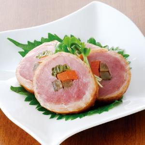 グルメ 冷凍食品 業務用  紅茶鴨 ジャンボ 三色巻 550g  カットなし  販売期間 9月-2月  あい鴨肉 かもにく かも肉 一品 惣菜|syokusai-netcom