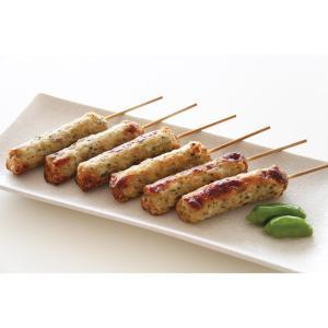 グルメ 冷凍食品 業務用 つくね棒青じそ入り40g×10本入 ツクネ 捏ね 和食 居酒屋 串焼き 和風肉惣菜|syokusai-netcom