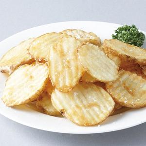 冷凍食品 業務用 ウェーブカットポテト 1kg 7mm   弁当 フライドポテト ポテトチップ 揚物 付け合せ ホッカイコガネ|syokusai-netcom