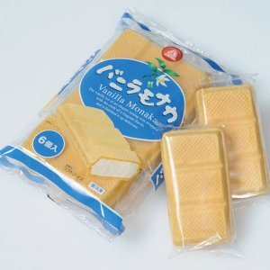 冷凍食品 業務用 バニラモナカ 100ml×6個  弁当 アイス ばにら ソルベ シャーベット デザート|syokusai-netcom