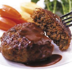冷凍食品 業務用 グリエハンバーグ 120g×10個入    お弁当 ジューシー マルチスチーム製法 ハンバーグ 洋食 肉料理|syokusai-netcom