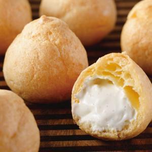 冷凍食品 業務用 洋菓子職人の生シュークリーム 1kg(約68個入)    お弁当 しゅーくりーむ 洋菓子 シュークリーム|syokusai-netcom