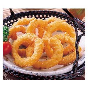 冷凍食品 業務用 新KCオニオンリングR 500g  (約23〜28個入)  お弁当 一品 揚物 スナック オニオンリング 洋食|syokusai-netcom