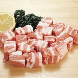 冷凍食品 業務用 豚バラ肉角切り 500g 焼肉 煮込み ポーク 豚肉|syokusai-netcom