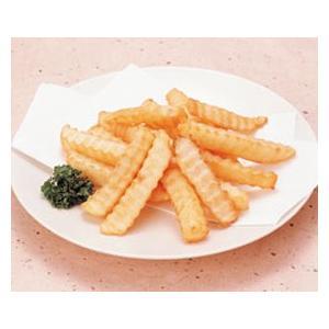 冷凍食品 業務用 クリンクルカット ポテト 1kg 15mm    お弁当 一品 揚物 ポテト 洋食|syokusai-netcom