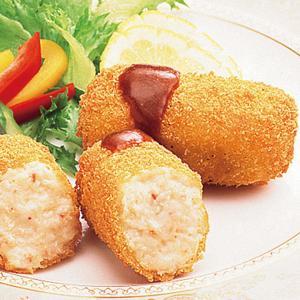 冷凍食品 業務用 老舗のカニクリーム コロッケ 60g×10個入    お弁当 ころっけ コロッケ カツ フライ 洋食 おつまみ 揚げ物|syokusai-netcom