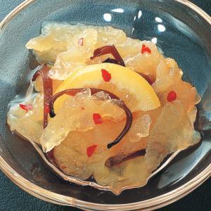 冷凍食品 業務用 レモン海月 くらげ  1kg    お弁当 一品 惣菜 お通し くらげ 和食|syokusai-netcom