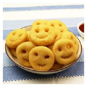 冷凍食品 業務用 スマイルポテト4LB  約1.81kg    お弁当 人気商品 一品 揚物 かわいい ポテト 洋食|syokusai-netcom