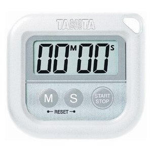 業務用 タニタ 丸洗いタイマー 100分計 ホワイト  TD-376|syokusai-netdrycom