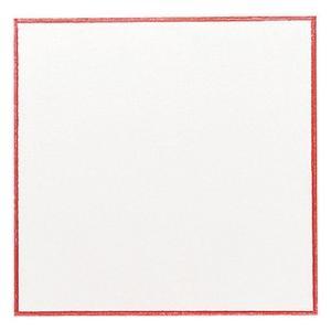 業務用 赤枠敷紙 厚口 5号 26-2105  147×147mm 100枚|syokusai-netdrycom
