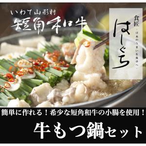 【国産】【送料無料】短角和牛 もつ鍋セット 2~3人前(野菜...