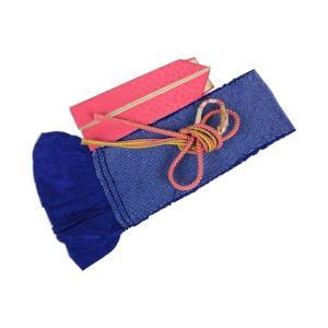 振袖用 正絹 総絞り 四ツ巻 帯揚げ&正絹パール付き帯締め(NO5)&重ね衿(RV-4) 3点セット FMG-1