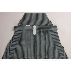 男性用 袴 馬乗り型 踊り 弓道 茶道 お祭りなどに 縞模様 OHG-2 ブルー SS/S/M/L/LLサイズ|syoubian|04