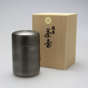 茶壺 錫製 高級茶壺 黒イブシ 桐箱入り|syoubidou